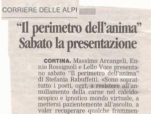 Corriere Alpi - Martedi 23 Febbraio 2010