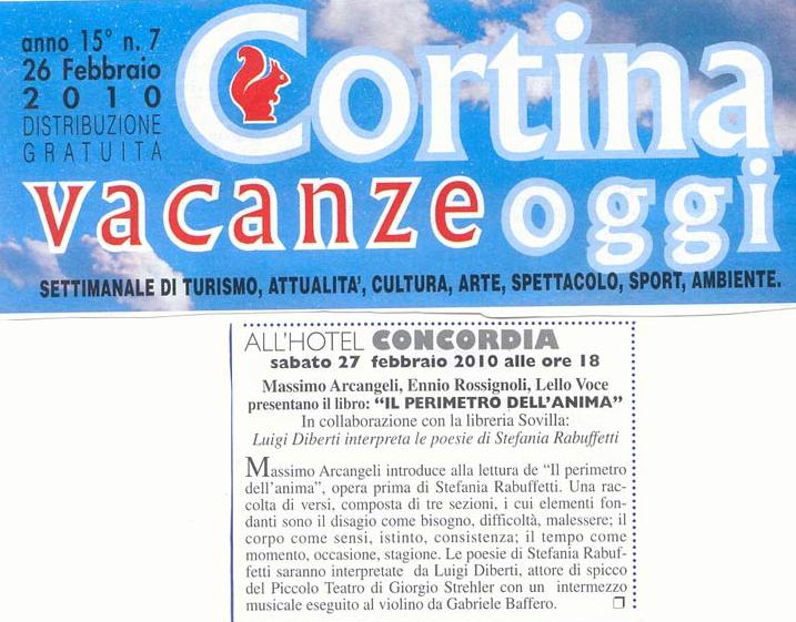 Cortina Vacanze Oggi - Venerdi 26 Febbraio 2010