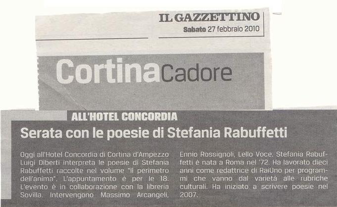 Il Gazzettino di Cortina - Sabato 27 Febbraio 2010