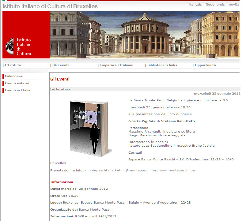 Istituto Culturale Italiano - Gennaio 2012