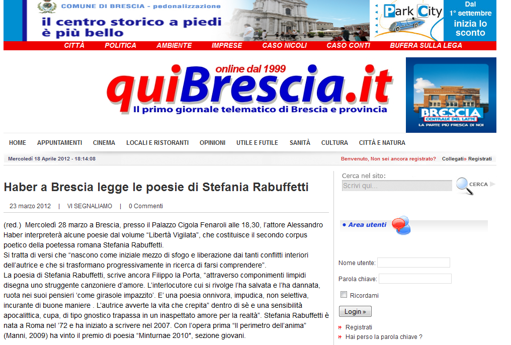 quibrescia.it - Mercoledi 23 Marzo 2012