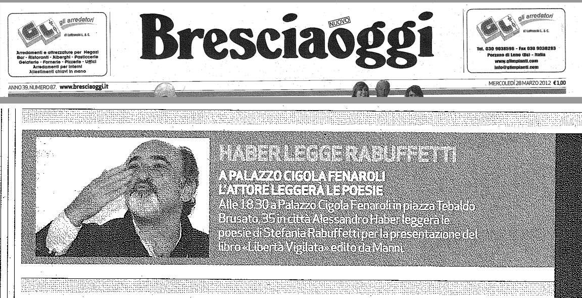 Brescia Oggi - Mercoledi 28 Marzo 2012