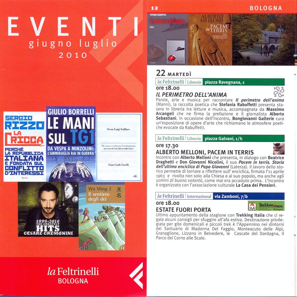 La Feltrinelli Bologna - inserto Eventi Settembre 2010