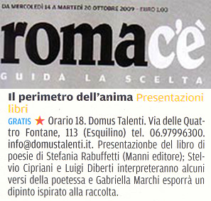 Romac'è - Mercoledi 14 Ottobre 2009