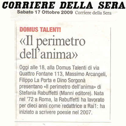 Corriere della Sera - Sabato 17 Ottobre 2009