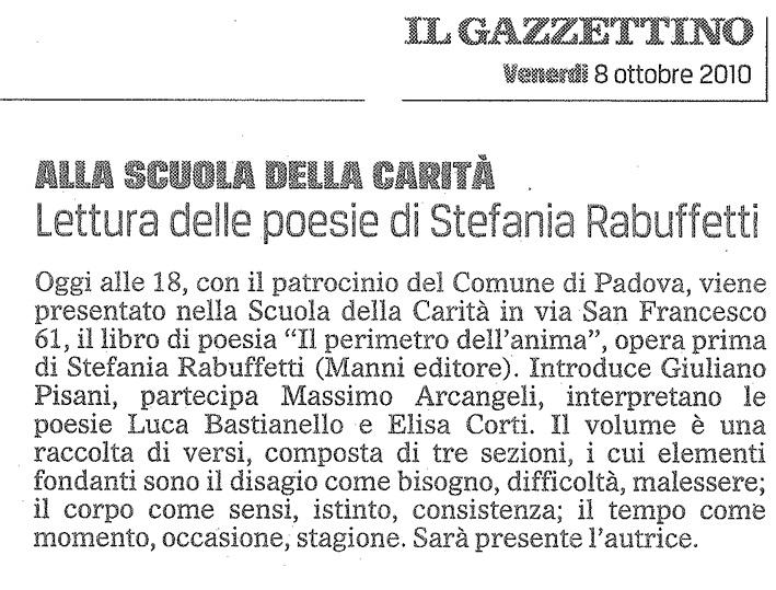 Il Gazzettino - Venerdi 8 Ottobre 2010