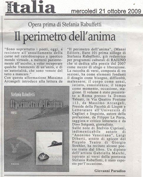 Italia Sera - Mercoledi 21 Ottobre 2009