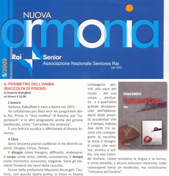 Nuova Armonia - Novembre/Dicembre 2009
