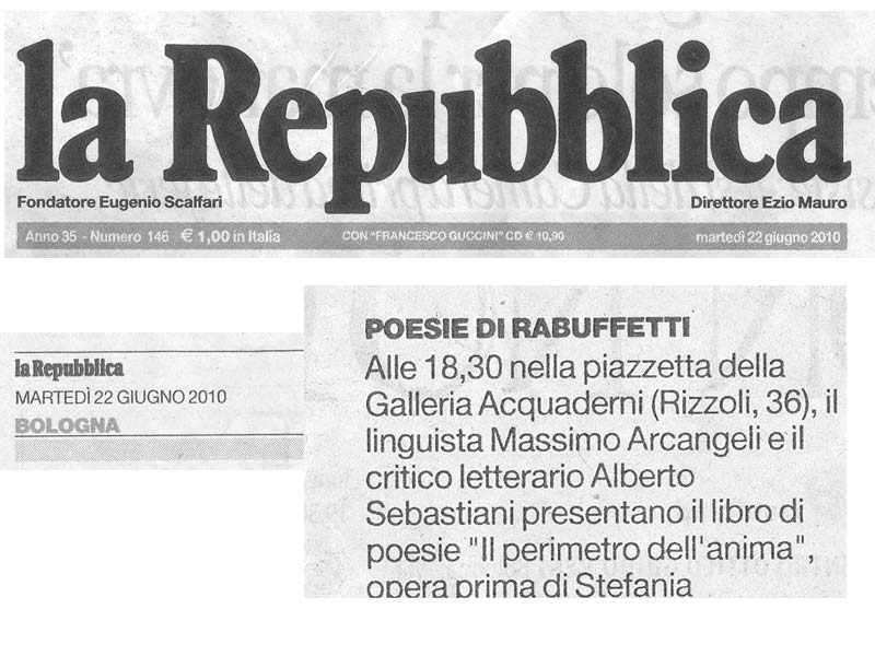 La Repubblica - Martedi 22 Giugno 2010