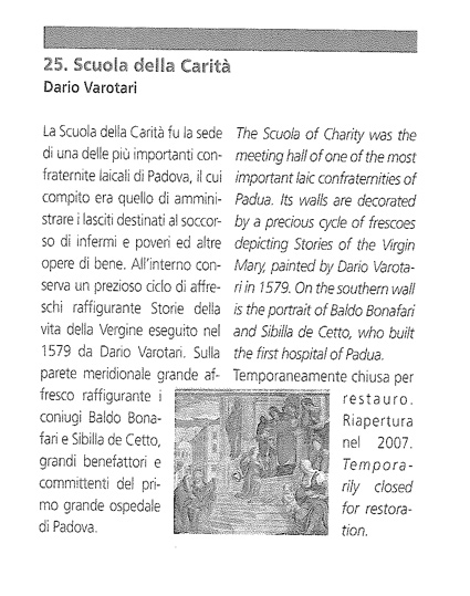 Scuola della Carità di Padova - 8 ottobre 2010